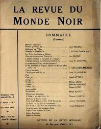 REVUE DU MONDE NOIR