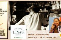 Tous Créoles Soirée Littéraire avec Arlette Pujar